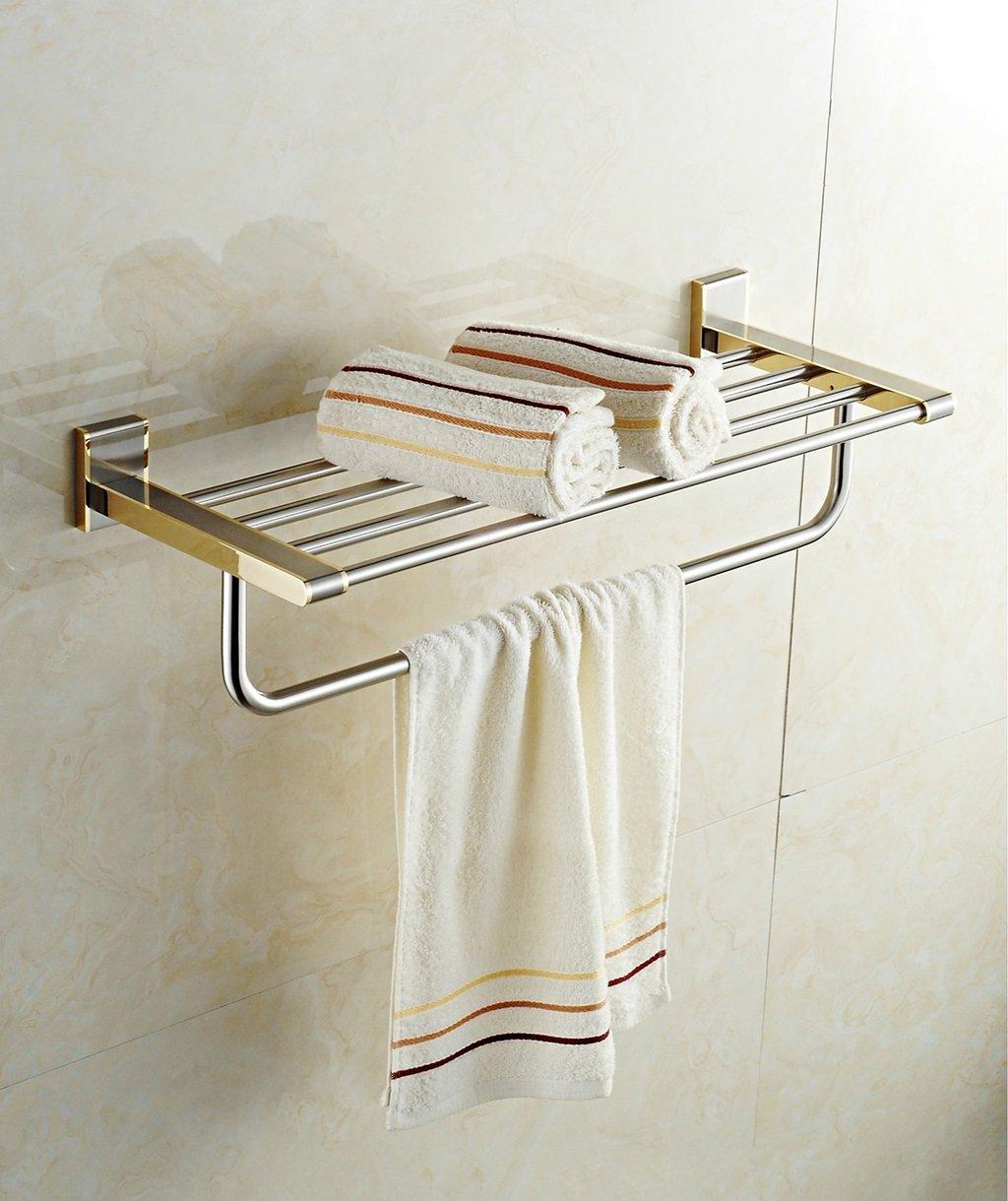 ZHAS Stainless Steel Gold Bathroom Towel Rack Luxury Bathroom Accessories Towel Rack (Color : Chrome)