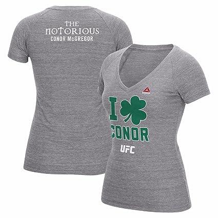 30dfd1b8dee29 Reebok Conor McGregor UFC Grey 189 I Clover Conor Tri-Blend T-Shirt for  Women