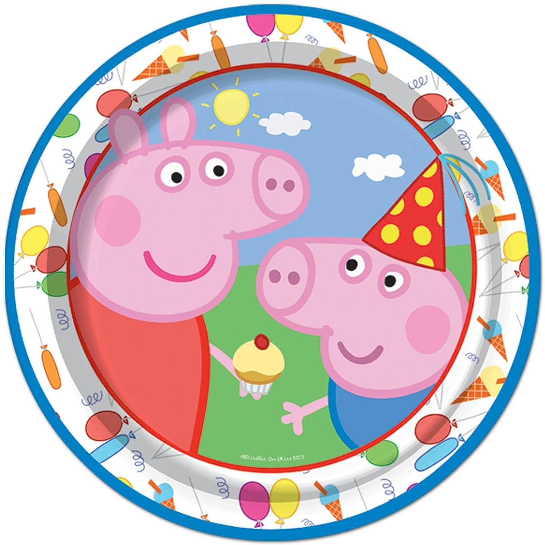 8 Peppa Pig Lindo Carnaval Cumpleaños Infantil Platos De ...