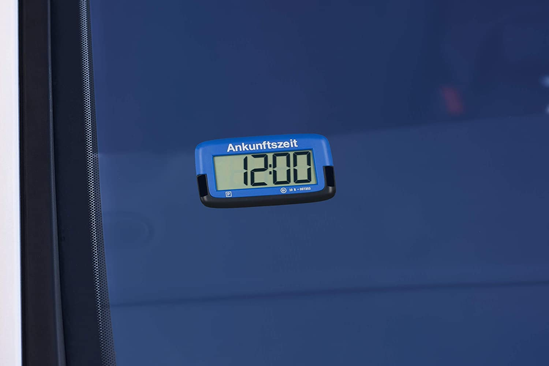 Digitale Parkscheibe elektronische Parkuhr mit offizieller Zulassung blau Needit Park Mikro