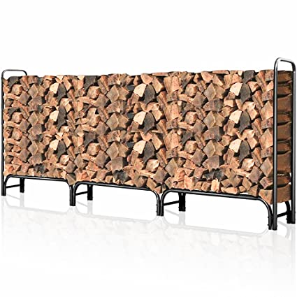 Outdoor Firewood Log Rack For Fireplace 12ft Heavy Duty Firewood Pile Storage  Racks For Patio Deck