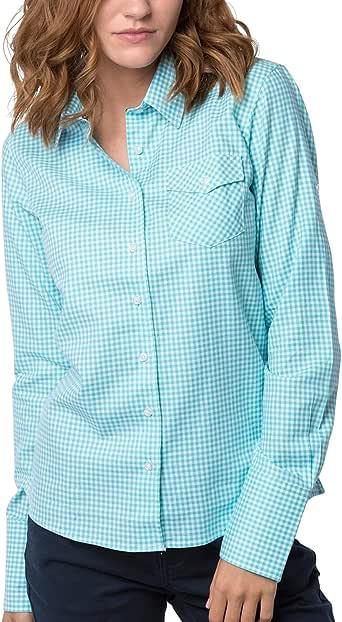 Rydale - Blusa para Mujer (100% algodón Cepillado, patrón Hannah Check) Verde Amapola Menta 38: Amazon.es: Ropa y accesorios