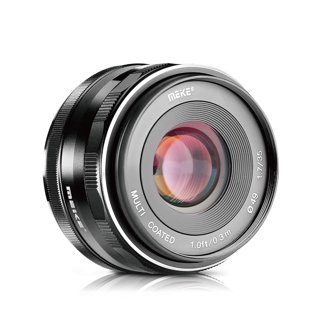 Meike 35mm F1.7 Manual Focus Prime Lens for Micro 4/3 MFT M4/3 Olympus and Panasonic Digital Mirrorless Cameras by Meike