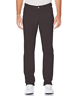 Perry Ellis Mens Slim Fit Stretch Birdseye Pattern Pant