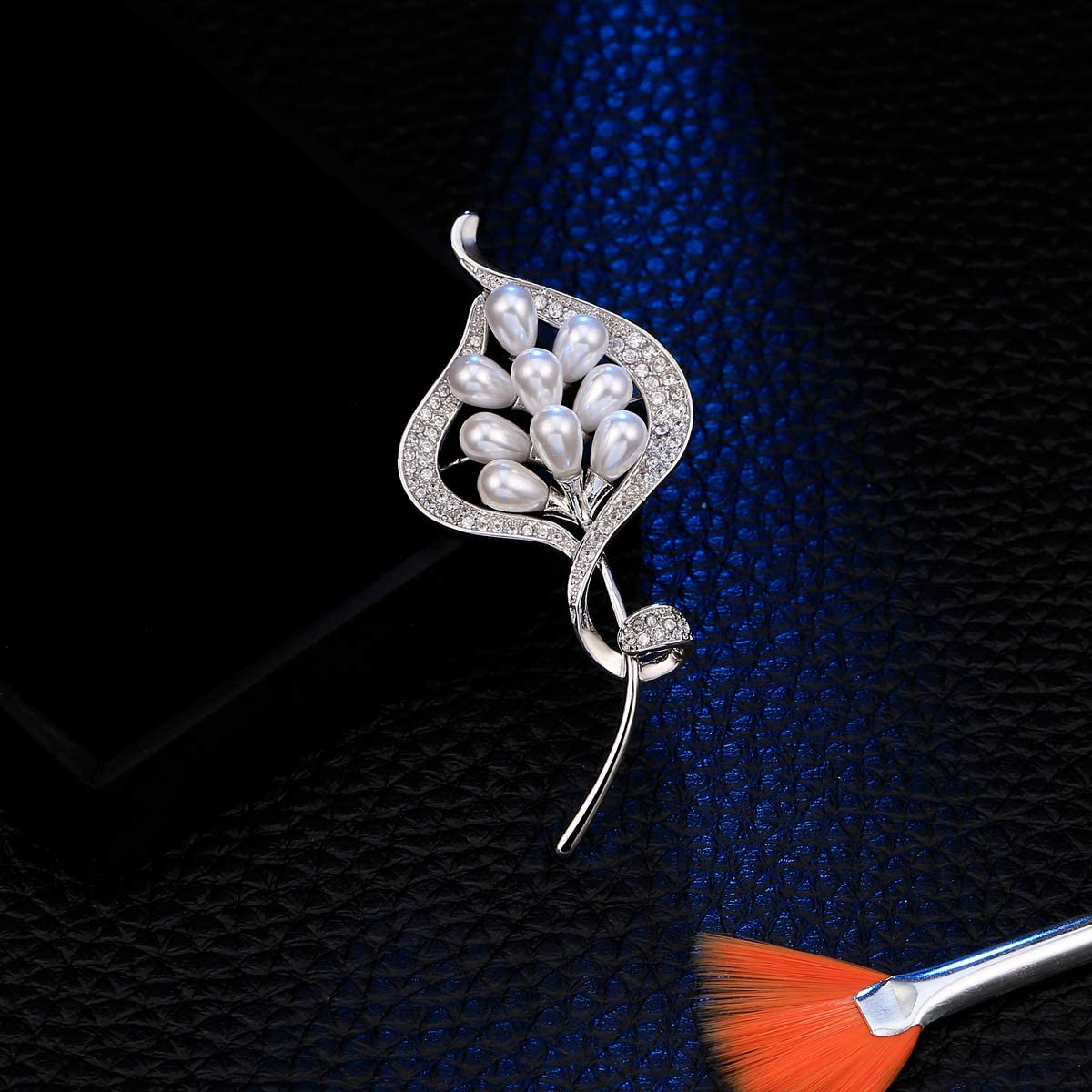 Broches pour les femmes,broches pour les mari/ées Broche en cristal vintage Bouquet filles perle broche pour mariage f/ête