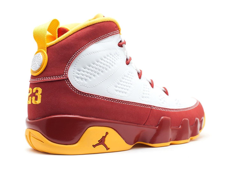 47791fff835 Amazon.com | Mens Nike Air Jordan 9 Retro Bentley Ellis Crawfish Limited  Edition Basketball Shoes White-Dark Cayenne/University Gold 302370-140 (14)  | ...