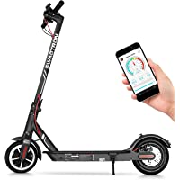 "Swagtron High Speed Electric Scooter with 8.5"" Cushioned Tires, Cruise Control and 1-Step Portable Folding - Swagger 5"