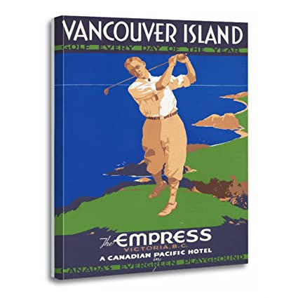Amazon.com: TORASS Canvas Wall Art Print Holiday Golf Vancouver ...