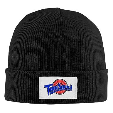 de20640d92ddb7 Amazon.com: Space Jam Unisex Cool Black Flexible Skullies Winter Knit Hats  One Size: Clothing