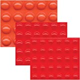 Bump Dots-Mixed-Sm Med Lg-Round Orange-Red-80-pk