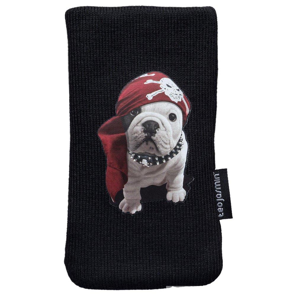 Teo Jasmin Teo Pirate Housse Chaussette en Coton pour t/él/éphone Portable 125 x 66 x 8,5 mm Noir