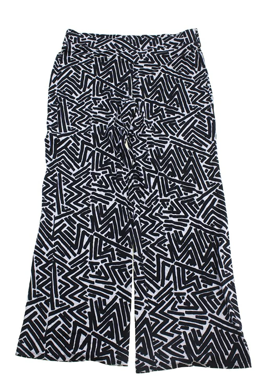 Karen Kane Black Printed Soft Pants L