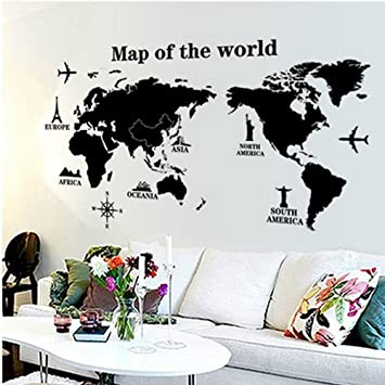 Large world map vinyl wall decal sticker atlas poster by large world map vinyl wall decal sticker atlas poster by gumiabroncs Gallery