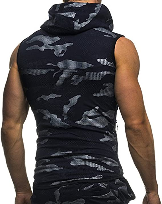 Camisetas de Tirantes Hombre Verano Moda Hombre b/ásica Casual Deporte Gym Camiseta sin Mangas Original Slim Fit Camisetas Color s/ólido Camisas Fitness Tops Shirts