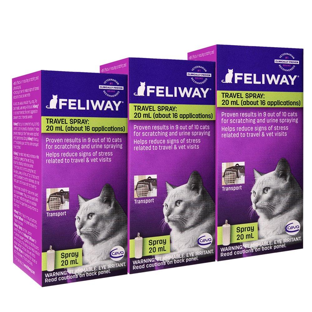 Feliway Pheromone Travel Spray, 20 mL, 3-Pack by Feliway