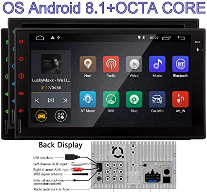 """Double 2Din 10.1/"""" Android 8.1 Car Stereo Radio GPS Navi System 3G 4G Wifi OBD2 I"""