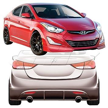 2011 – 2013 Hyundai Elantra Duraflex Racer cuerpo – Kit de 4 piezas – Incluye Racer