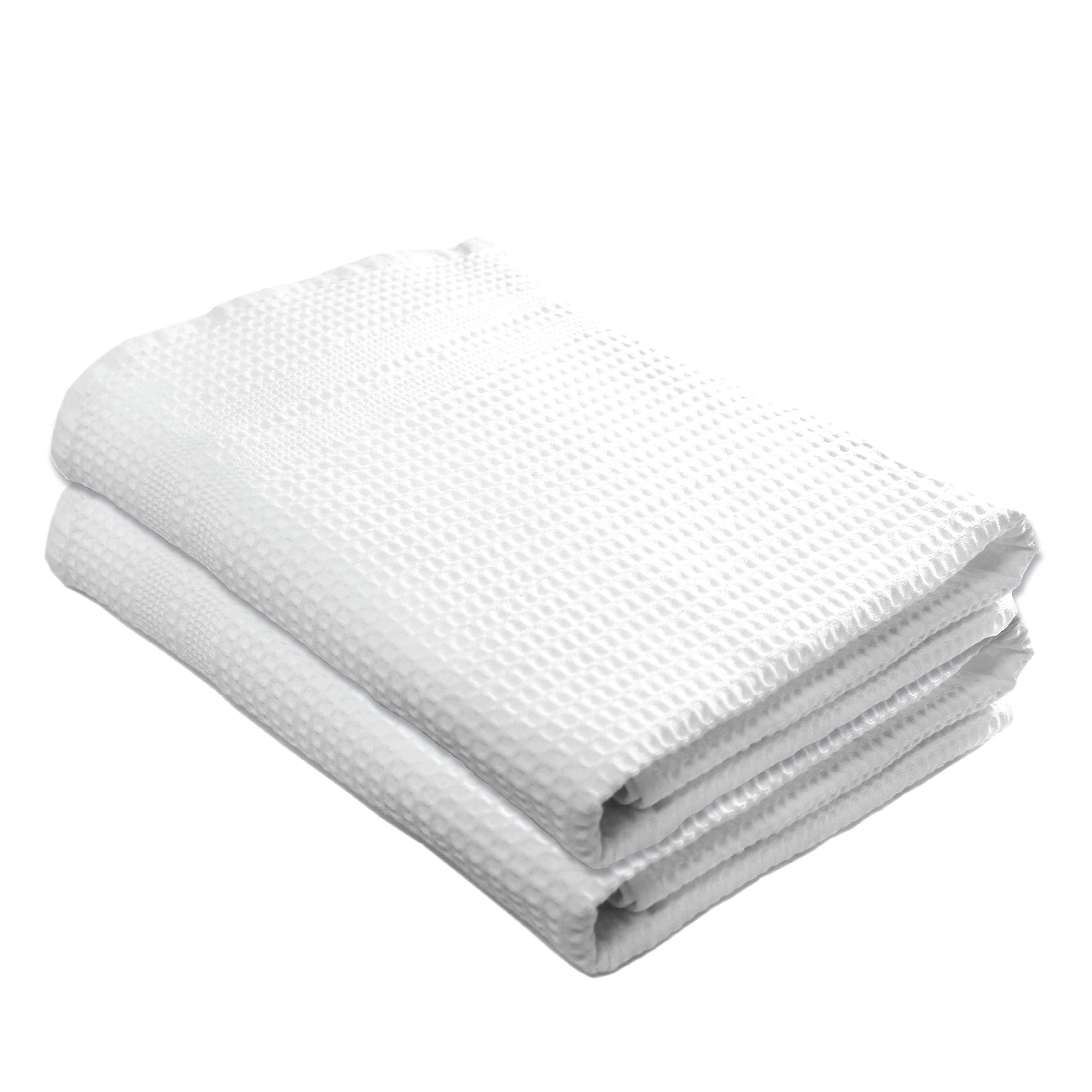 Gilden Tree 100% Natural Cotton Classic Waffle Weave Bath Towel Set of 2 (White)