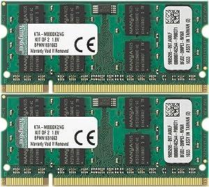 Kingston 4 GB Apple SODIMM iMac and MacBook Memory (Kit of 2) KTA-MB800K2/4G