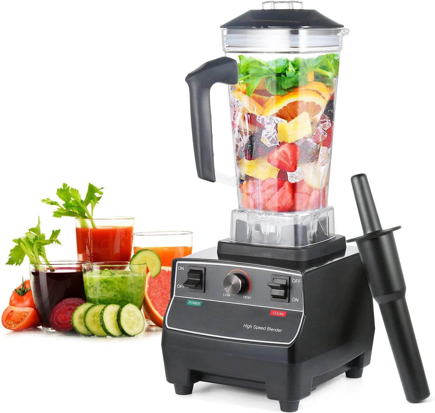 Blender Mixer Smoothie Blender 67 Ounce Ice Crusher BPA Free Jar Variable Speed 1800 Watt Motor Comes With a Tamper Professional-Grade for Home Use