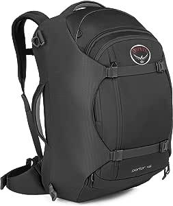 HACI Osprey Porter Travel Backpack Bag, Black, 46-Liter
