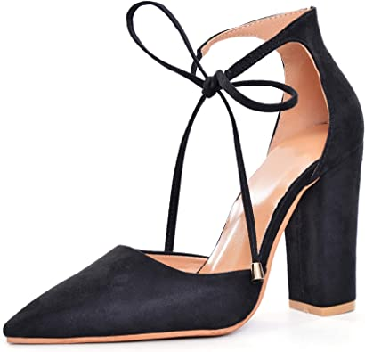 Women Ankle Lace-Up Closed Pointed Toe