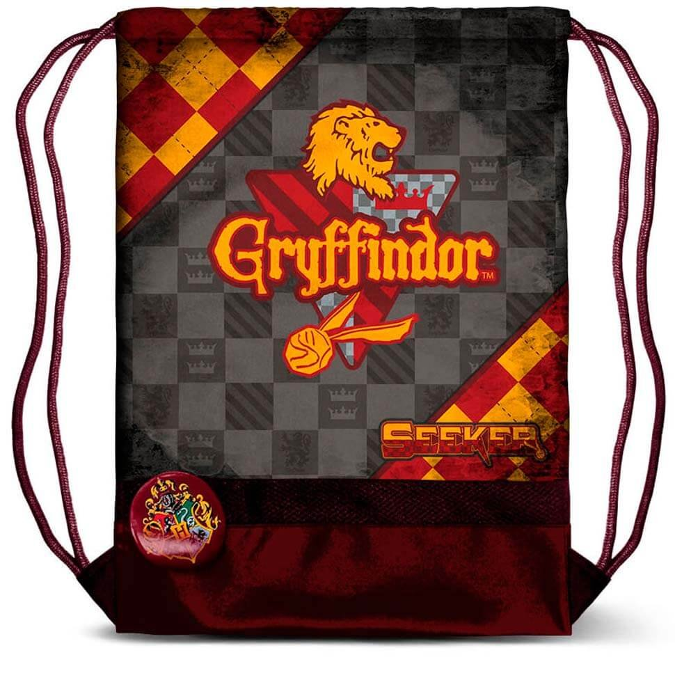 Karactermania Harry Potter Quidditch Gryffindor-Storm Drawstring Bag, 47 cm, Red 37636