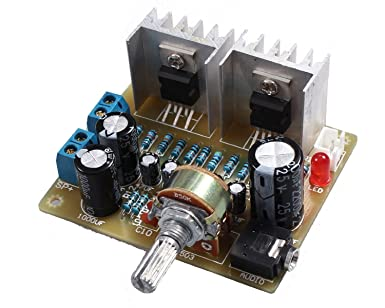 Icstation TDA2030 2X15W Stereo Audio Amplifier DIY Kits Electronics  Soldering Practice Suite