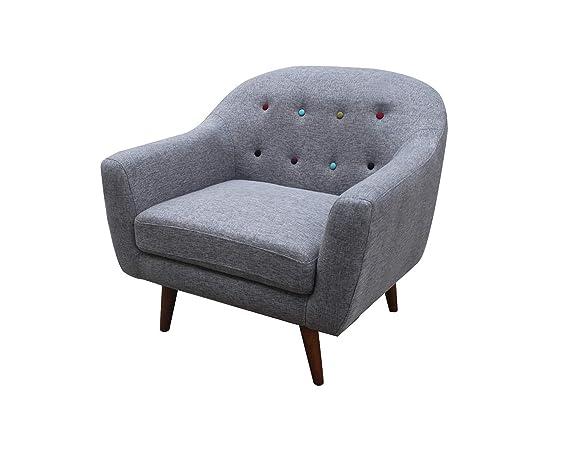 Meubletmoi Conjunto Sofá sillón Gris - Design escandinavo ...