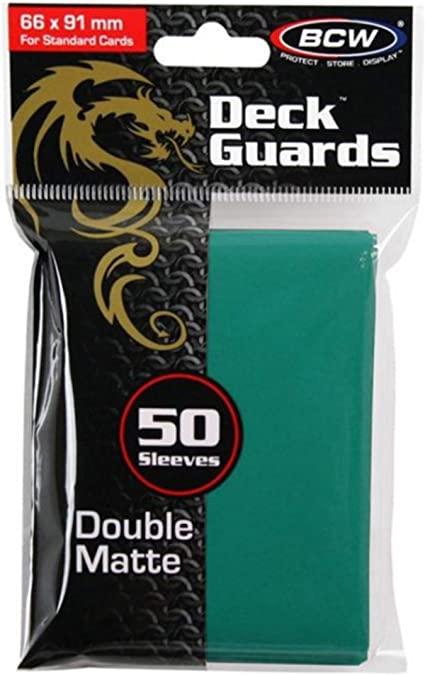 1000 BCW Double Matte Deck Guard Card Sleeves Teal