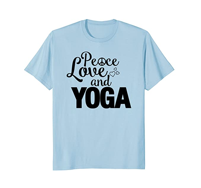 Amazon Peace Love Yoga Symbol T Shirt For Women Men Kids Gift