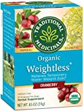 Traditional Medicinals Organic Weightless Cranberry (Pack of 1), Relieves Temporary Water Retention & Bloating, 16 Tea…