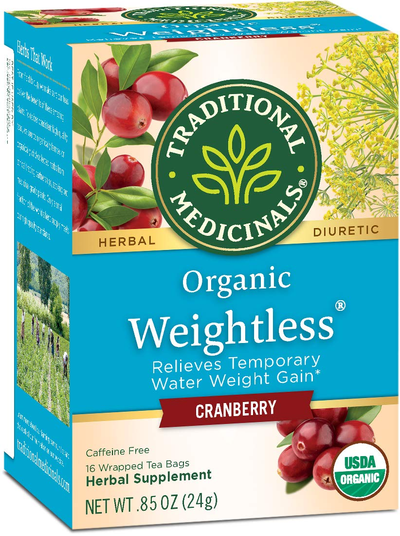 Traditional Medicinals Organic Weightless Cranberry Women's Tea, 16 Tea Bags (Pack of 6) by Traditional Medicinals