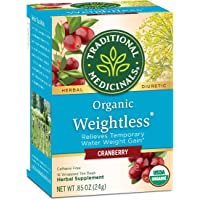 Traditional Medicinals Organic Weightless Cranberry Water Retention Tea, 16 Tea...
