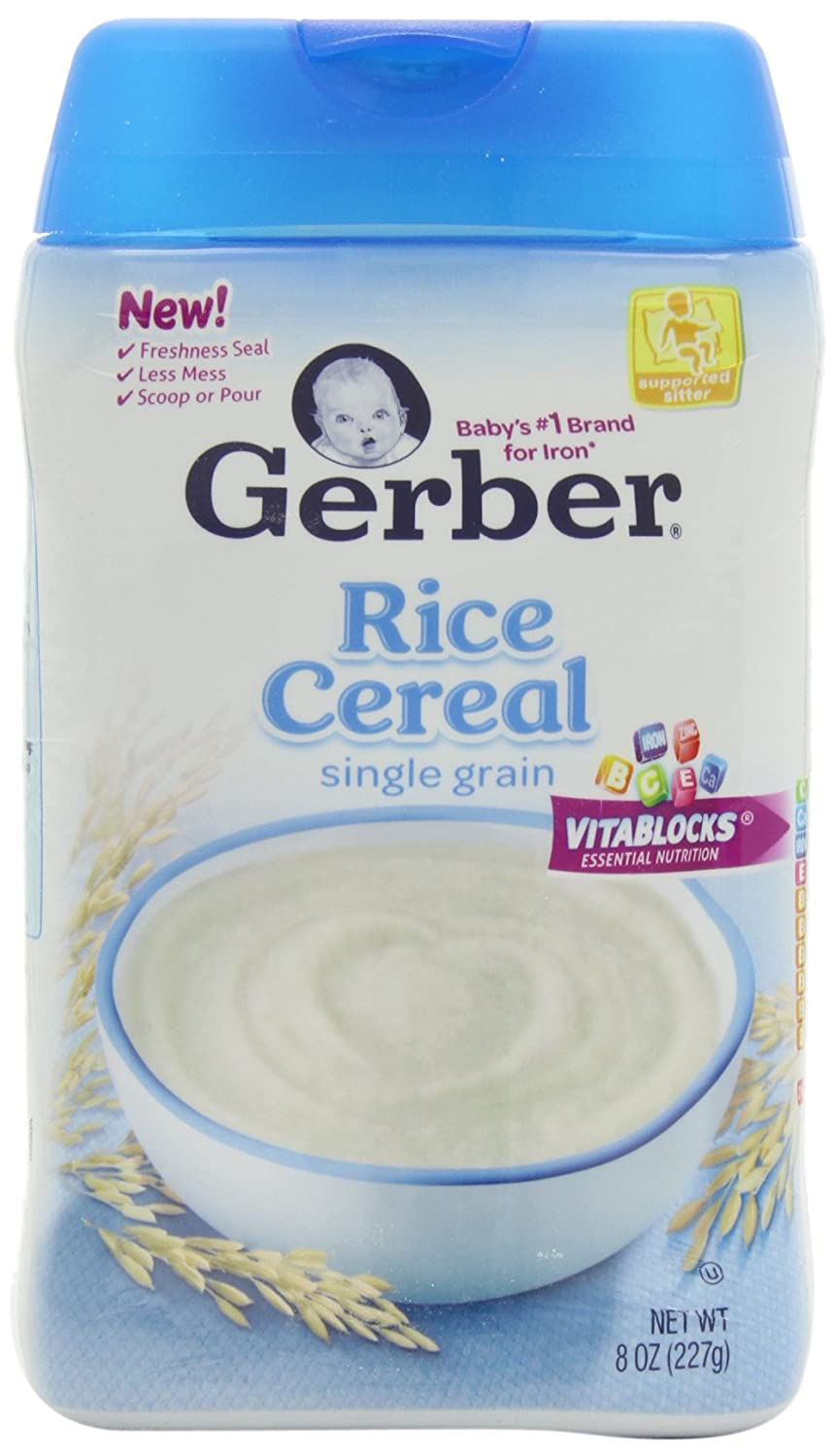 Gerber single grain rice baby cereal 8 oz pack of 6 amazon gerber single grain rice baby cereal 8 oz pack of 6 amazon grocery gourmet food ccuart Choice Image