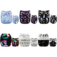 Alva Baby 6pcs Pack Fitted Pocket Cloth Diaper with 2 Inserts Each 6DM29-AU