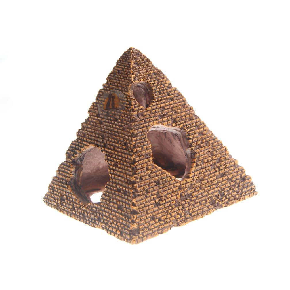 Emours Resin Egyptian Pyramids Reptile Shrimp Fish Hideouts Aquarium Decor Pet accessories