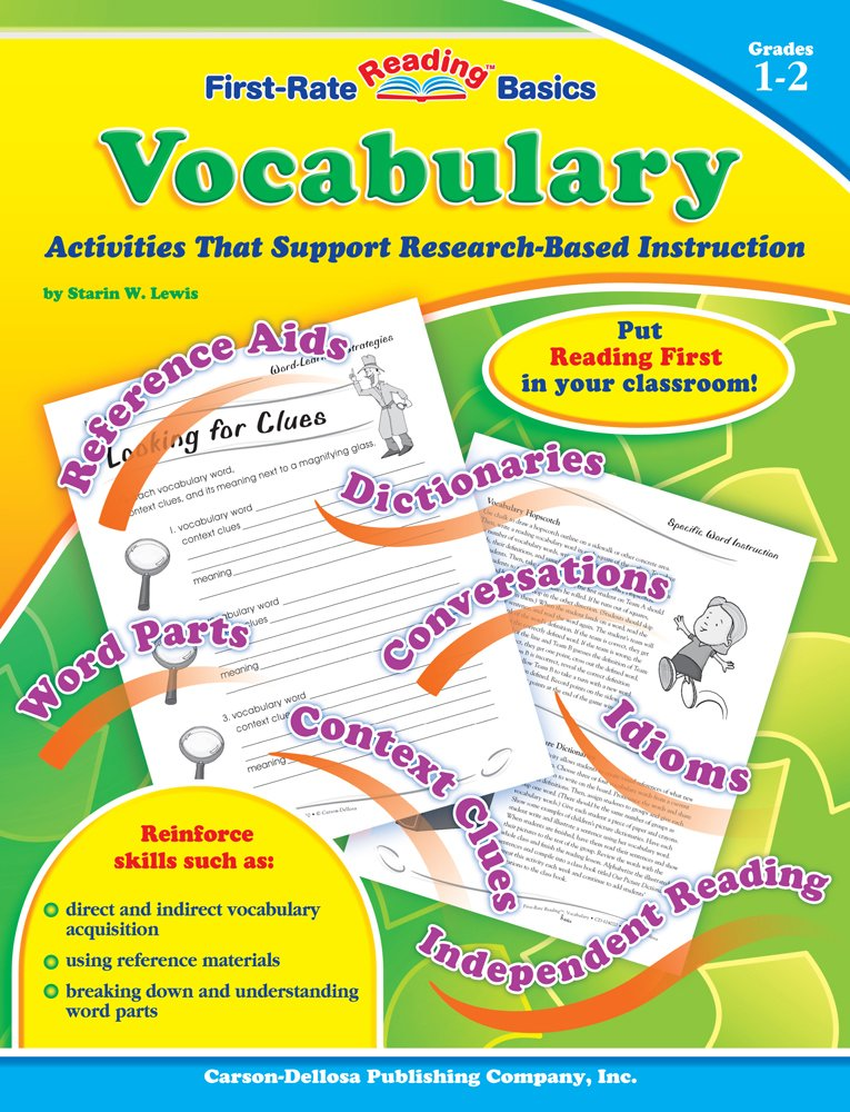Vocabulary, Grades 1 - 2: Activities That Support Research-Based Instruction (First-Rate Reading Basics)