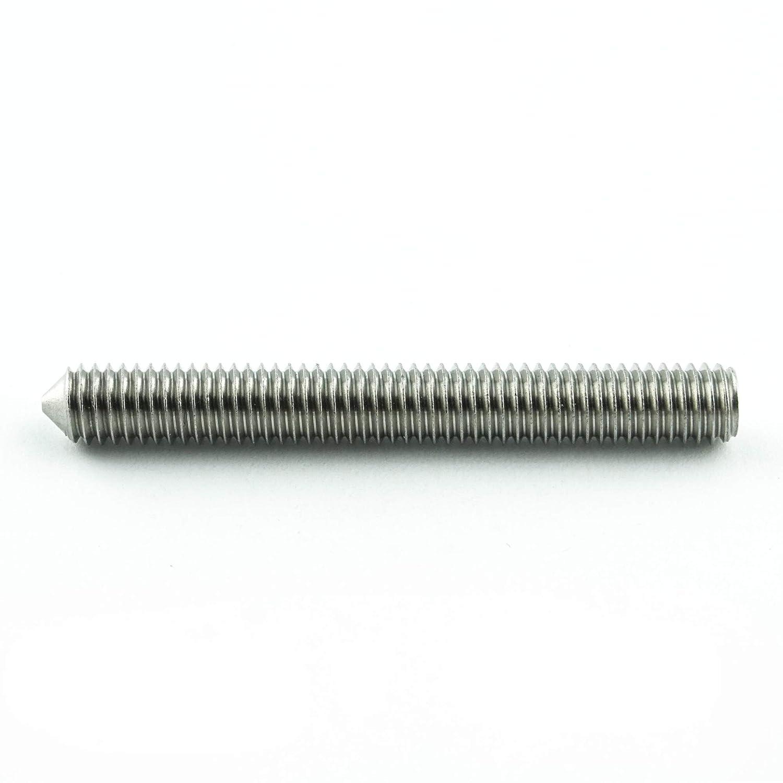 rostfrei - Madenschrauben DIN 914 Edelstahl A2 V2A 20 St/ück Eisenwaren2000 ISO 4027 M12 x 20 mm Gewindestift mit Innensechskant und Spitze Gewindeschrauben