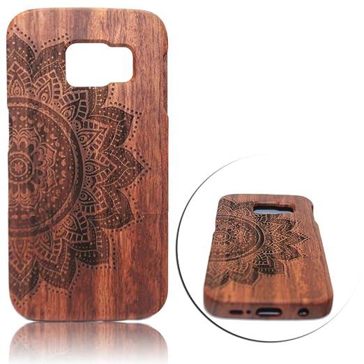 8 opinioni per Samsung Galaxy S6 Edge Wooden Legno Intagliato Case Cover,Vandot Fatta a Mano