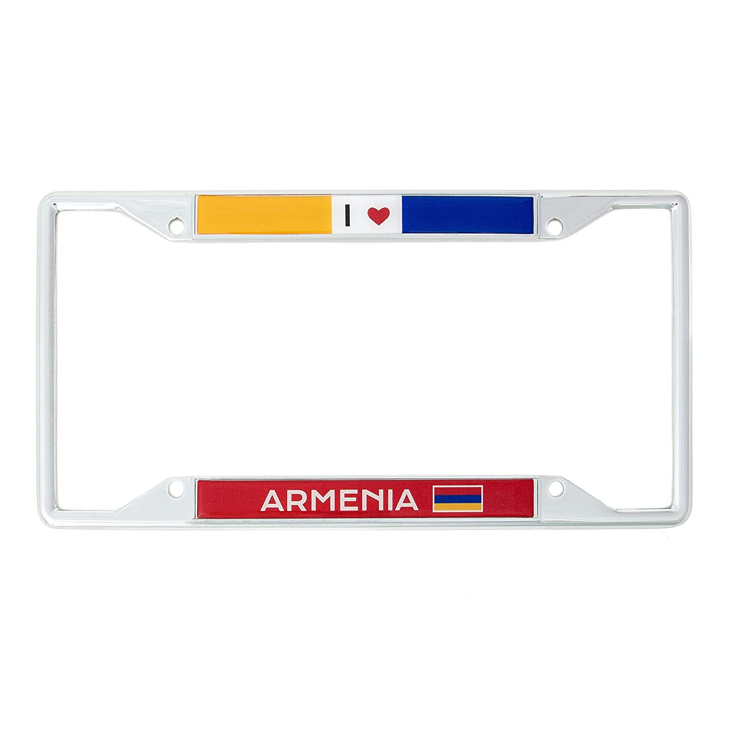 Desert Cactus Country of Armenia I Heart Love License Plate Frame for Front Back of Car Vehicle Truck Armenians