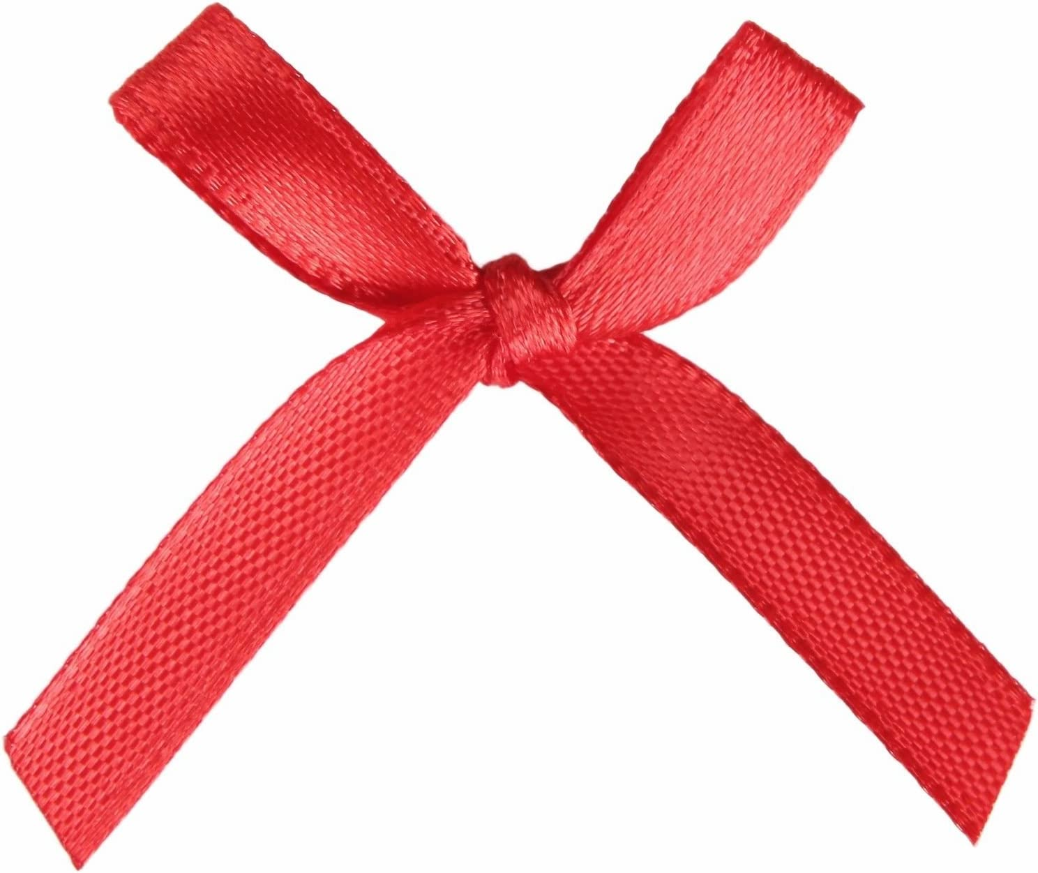 50 Pcs, Baby Blue AKA 50//100 Pcs Bow Satin 3cm Wide Ribbon Pre-Tied Bows Craft Scrapbooking Various Colours