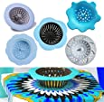 Deloky 5 Pack Acrylic Pouring Strainer, Plastic Silicone Strainer Flower Drain Basket for Pouring Acrylic Paint and Creating Unique Patterns and Designs