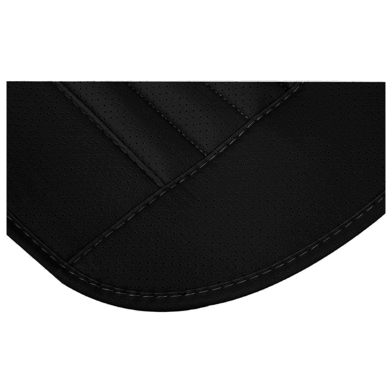 R Black TOOGOO Car Bamboo Charcoal Leather Seat Cushion Breathable Therapy Chair Cover Pad