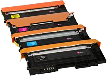 4 Tóners compatibles para Samsung CLT-404S Xpress SL-C430 C430W SL-C480 C480FN C480FW C480W | Negro: 1500 páginas & Cian/Magenta/Amarillo: 1000 ...