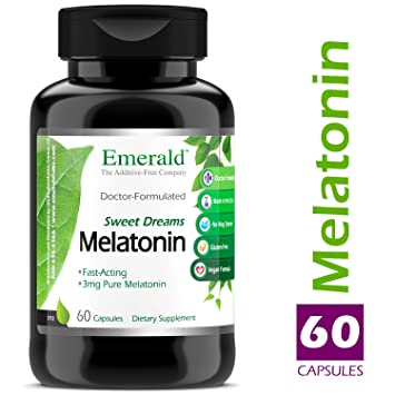 Melatonin (3 mg) - Promotes Relaxation & Healthy Sleep Patterns, More Energy,
