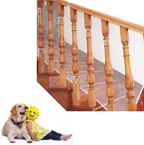 Red de seguridad para protección infantil, Malla de seguridad ajustable para balcones de escaleras o patios, 3M (blanco): Amazon.es: Bebé