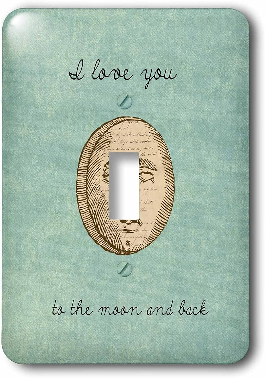3drose Lsp 152137 1 I Love You To The Moon And Back Inspirational Art Light Switch Cover Amazon Com