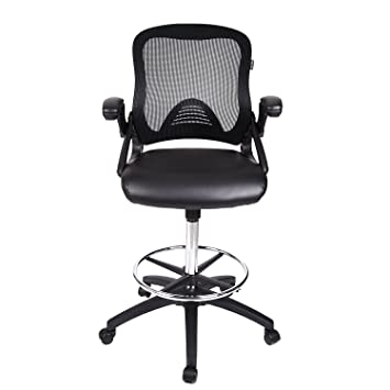 Amazoncom Drafting Chair Tall office Chair for Adjustable