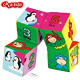 Soft Block Baby Toys,LALABAY Transform Cute Animals Pattern on 6 Sides Explore and Discover Soft Blocks